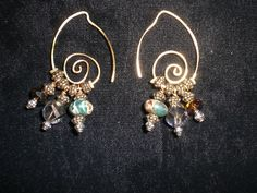 Handmade wire earrings come in any colors $30.00