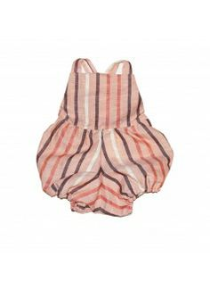 MABO Mabel Playsuit / Peach Stripe