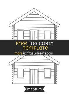 Free Log Cabin Template - Medium