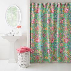 For your pink girlie bathroom. Just an idea of colors that go well with pink.