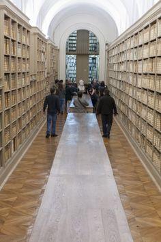 Nuit européenne des musées 2014 Visite des Grands dépôts © Archives nationales, Nicolas Dion