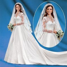 """Princess Catherine Royal Elegance Bride Doll     On April 29, 2011 Catherine """"Kate"""" Middleton wed her handsome Prince William of Wales and her radiant beauty and understated elegance touched our hearts forever. To commemorate this historic occasion, The Ashton-Drake Galleries is proud to present the Princess Catherine Bride Doll.  www.angelicdreamz..."""