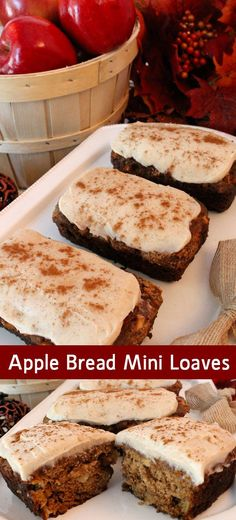 These Apple Bread Mini Loaves are a super delicious Thanksgiving ...
