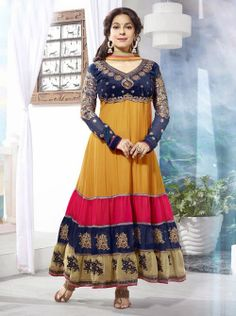 SV-KA0182 at JUST @ $74 Buy at http://www.shopvhop.com/product/super-tri-colours-juhi-chawala-designer-collection-16011/