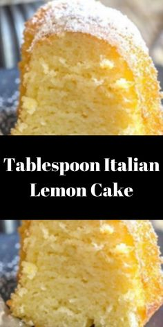 Chocolate Layer Cake with Cream Cheese Filling and Chocolate But. Italian Lemon Pound Cake, Vegan Lemon Cake, Italian Cream Cakes, Easy Lemon Cake, Italian Lemon Cookies, Cookie Recipes, Dessert Recipes, Ww Desserts, Lemon Desserts