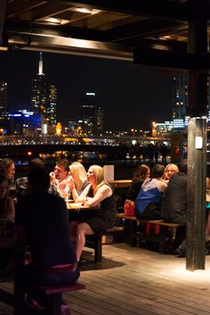 The Boatbuilders Yard - Melbourne - South Wharf - River - Outdoor deck seating - bar
