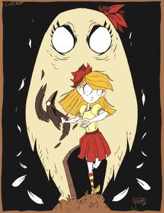 jouste the drawbarian — Some Don't Starve fan art of Wendy and her sister....