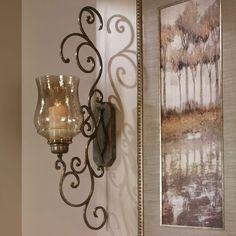 Frontgate Grandinroad Rustic Vintage Antique Candle Votive Holder Wall Sconce