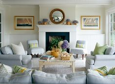 scallop slip covers on chairs  Lynn Morgan Design