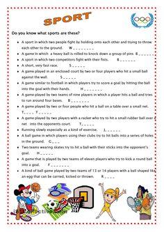 sports vocabulary matching exercise worksheet 1 by oskr dc via slideshare pe assessment. Black Bedroom Furniture Sets. Home Design Ideas
