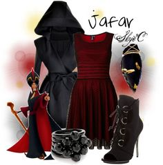 Outfit inspired by Jafar from Disney's Aladdin (contest) Disney Princess Outfits, Disney Themed Outfits, Disney Inspired Fashion, Disney Fashion, Classy Outfits, Cute Outfits, Disneybound Outfits, Character Inspired Outfits, Dapper Day