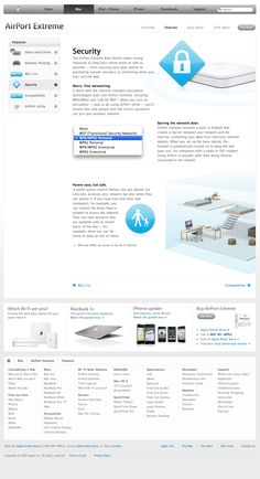 Apple - AirPort Extreme - Features - Security (07.01.2009)