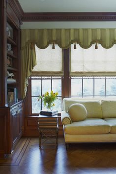 Traditional Window Treatments Design for office - minus the tassels