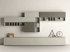 Sectional lacquered storage wall SLIM 89 Slim Collection by Dall'Agnese   design Imago Design, Massimo Rosa