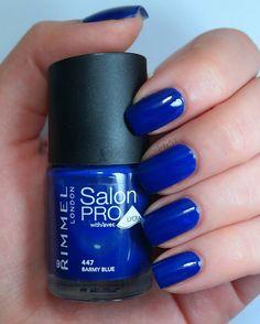 Barmy Blue  #Rimmel .. # #bluenails #nailpolish #nailpolishaddict #npa #blue #rimmellondon #swatch #barmyblue #followme #salonpro #instanails #nailstagram #nailsofinstagram #notd #photooftheday #squarenails #naturalnaillover #naturalnaill #nails