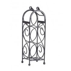 Goyal India Wine Rack 83598 Spruce up your interiors with our beautifully designed wine rack. In an impressive shape, this iron rack is an apt choice for adding beauty and warmth to your interiors. Store your wine bottles safely with this well designed that rack that offers not stability but blends in well to the decor of your home.