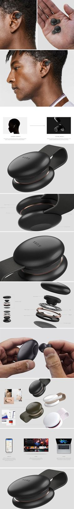 This set of conceptual earphones are the Aura PEBL, and they have been designed for a future that centers around both Augmented and Virtual Reality. Not only can they call themselves 'truly wireless', but they can also say that they are unique; rather than fitting snugly into the user's ears, they instead comfortably fit around the outside. This not only allows for an attention-grabbing design element, but also makes them far less intrusive. Cool Gadgets To Buy, Gadgets And Gizmos, New Gadgets, Electronics Gadgets, Amazing Gadgets, Clever Gadgets, Cool Technology, Technology Gadgets, Nouveaux Gadgets