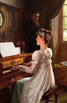 Edmund Blair Leighton, A Tender Chord, 1903