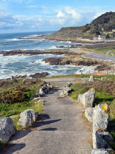 Portuguese Way of Saint James Coastal route, A Guarda, Spain. Coastal Portuguese Camino de Santiago