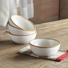 TERRA BOWLS--Relish in the rustic beauty of these fair trade, artisan-made, raw-edge terracotta and glazed white ceramic bowls. Subtle variations exist due to handmade nature