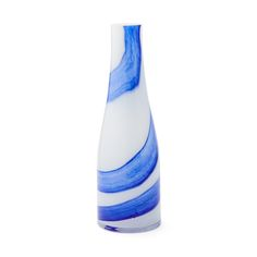 Marea Glass Cobalt and White Small Vase