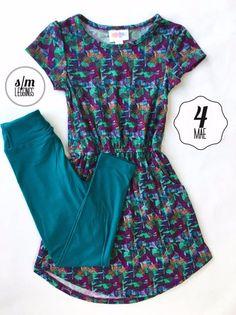 LuLaRoe Kids Outfit Size 4 Mae S/M Leggings   Lindsay Gonzalez's Boutique