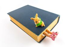 Bunny slippers bookmark. Girly legs in the book. por MyBookmark, $25.00