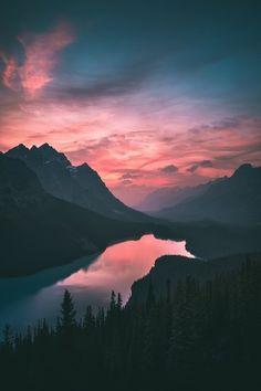 pink sunset sky
