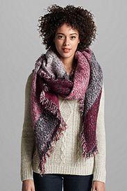 Women's Marled Blanket Scarf