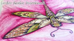 Coloured by Louise Anche Fearnhead #JohannaBasford #EnchantedForest #Dragonfly