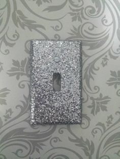 Sparkly Metallic Chunky Silver Glitter Light Switch Plates, Outlet Covers, and Child Safety Plugs — Sealed, Will Not Flake Off! by VampedByVivian on Etsy