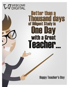 Teacher's plant the seeds of#Knowledge, that grow forever..!!! #TeachersDay #celebration #5thSeptember www.webcomedigital.com