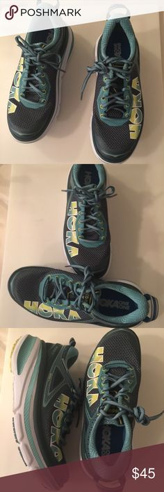 HOKA One Bondi 4 Running Shoes HOKA One One Bondi 4 sneakers in excellent preowned condition. Please take a better look at pictures👁👁  These sneakers was worn two times only. Still looks new inside out. The Bondi 4 Is The Most Cushioned Shoe In The Hoka One One Line. With Signature Hoka One One Cushioning To Keep You Happy Mile After Mile, The Bondi 4 Is Primarily Designed For Running On Hard, Man-made Surfaces, And Has Just Enough Traction To Play On Light Trails.   Size:7 HOKA Shoes…