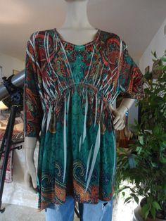 Plus Size 3X Womens Boho Shirt by LandofBridget on Etsy, $10.00