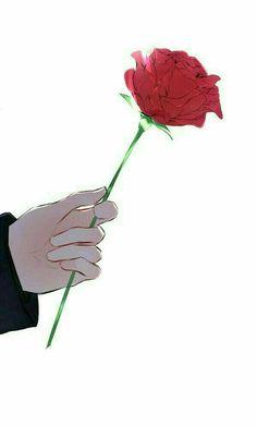 A rose was his calling card. He had always called me his little rose. Anime Love, Anime Guys, Manga Anime, Anime Art, Art Sketches, Art Drawings, Anime Lindo, Image Manga, Couple Wallpaper