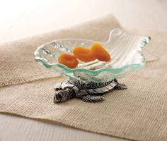 Glass Dip Cup With Turtle Base   Living   Mud Pie
