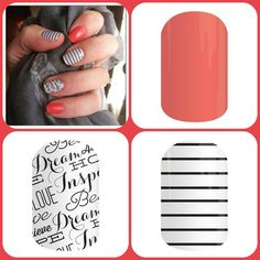 JenniferRodriguez.Jamberry.com Love this combo! ❤️ Jamberry- Grapefruit ❤️ Country Club ❤️Word to the Wise
