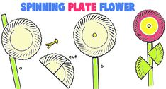 How to Make Spinning Paper Plate Flowers