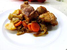 Φασολάκια, φασολάκια πλατιά, φασολάκια με χοιρινό, φασολάκια πλατιά με χοιρινό, Pot Roast, Ethnic Recipes, Food, Carne Asada, Roast Beef, Meals, Yemek, Eten