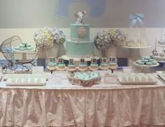"""Blue & Gray Elephant  / Baby Shower """"Blue & Gray Elephant Baby Shower""""   Catch My Party"""