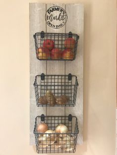Kitchen Organizer / Fruit and Veggie Organizer / Kitchen Baskets / Farmer& . Kitchen Organizer / Fruit and Veggie Organizer / Kitchen Baskets / Farmer& Market Sign / Fruit and Source by etsy Home Decor Kitchen, Country Kitchen, Diy Kitchen, Diy Home Decor, Kitchen Decor Themes, Rooster Kitchen Decor, Awesome Kitchen, Farmhouse Kitchen Decor, Kitchen Items