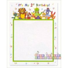 Baby Einstein 1st Birthday Invitations w/ Env (8ct)