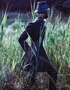 Forgiving Wilderness Client: Vogue Japan Sølve Sundsbø - Photographer. George Cortina - Fashion Editor/Stylist. Shay Ashual - Hair Stylist. / Polly Osmond - Makeup Artist./ Tatyana Molot - Manicurist./ Joan Smalls - Model