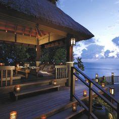 The Ultimate Luxury Destination : Shangri-La's Villingili Resort and Spa in the Maldives Shangri La, Maldives Resort, Resort Spa, Maldives Hotels, Bungalows, Porches, Villas, Outdoor Spaces, Outdoor Living