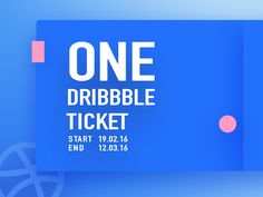 Dribbble Invite 2016 (one player)