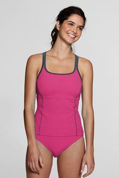 Bought this Lands' End swim top! Half-price. Hope it's cute.