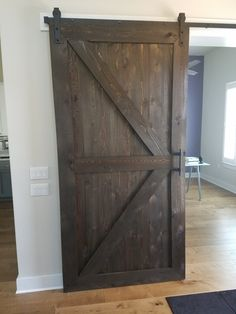 Rough cut British X-Brace barn door
