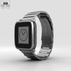 Pebble Time Steel Gunmetal Black Metal Band 3D Model .max .c4d .obj .3ds .fbx .lwo .stl @3DExport.com by humster3D