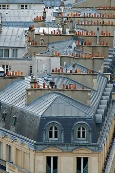 Paris rooftops by Sophie Pasquet // city, chimneys Beautiful Paris, I Love Paris, Most Beautiful Cities, Beautiful Buildings, Paris Travel, France Travel, Paris Rooftops, Paris Architecture, French Architecture