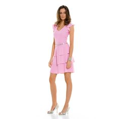 Pink dress from the Caroline Biss Spring collection 2015